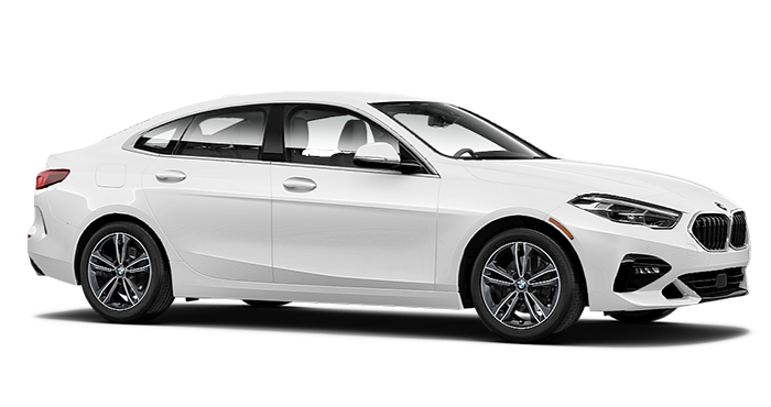 BMW 2 series sedan in white color